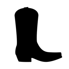 Mexican Boots Silhouette Icon. Clipart Image Isolated On White Background