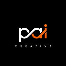 PAI Letter Initial Logo Design Template Vector Illustration