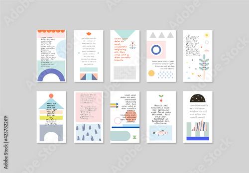 Obraz Social Media Stories Layout - fototapety do salonu