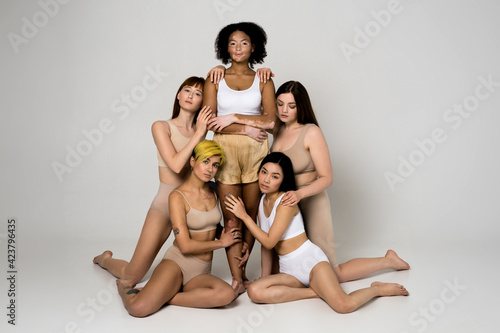 Tablou Canvas Women with different body and ethnicity posing together to show the woman power