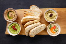 Vegan Chef Pate Variety, Humus And Crunchy Toasts