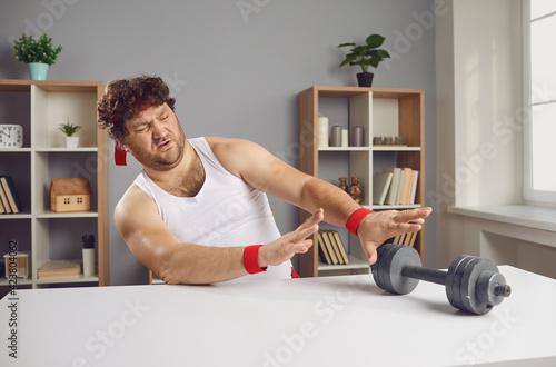 Fototapeta I don't want to exercise