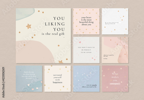 Quote Social Media Layout Set