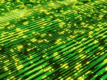 Abstract Green Circuit Board Background, Cgi Render Image
