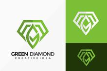 Letter G Green Diamond Logo Vector Design. Abstract Emblem, Designs Concept, Logos, Logotype Element For Template.