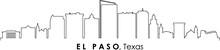 EL PASO Texas USA City Skyline Vector