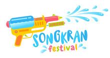 Vector Logo For Songkran Festival In Thailand.