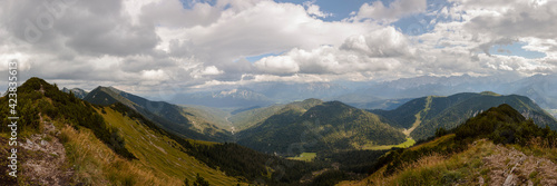 Fototapety, obrazy: Panorama view from Hoher Fricken mountain in Bavaria, Germany