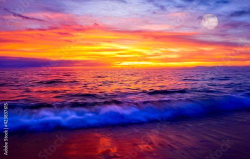 Foto Sunset Ocean Nature Landscape