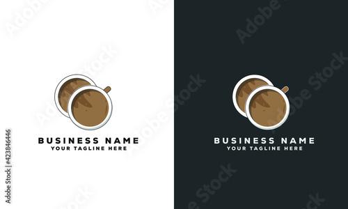Fototapeta coffee cup vector logo design obraz