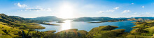 Panorama Of Lake St Clair Dam Landscape In Hunter Valley
