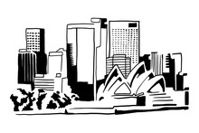 Australia City Illustration