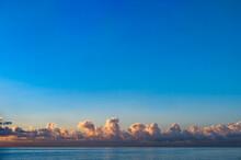 Blue Sunset Sky Over Sea