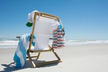 Canvas Chair On Beach