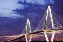 USA, South Carolina, Charleston, Arthur J Ravenel Jr Bridge