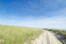 USA, Massachusetts, Nantucket Island, Coskata-Coatue Wildlife Refuge, Great Point, Empty Beach Path