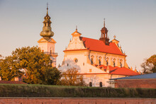 Poland, Lublin, Zamosc, Exterior Of Church And Bell Tower