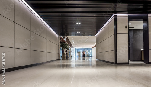 Fotografie, Obraz Empty underground corridor under commercial building