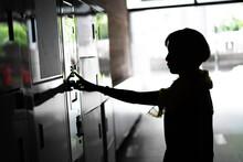 Woman Open A Locke
