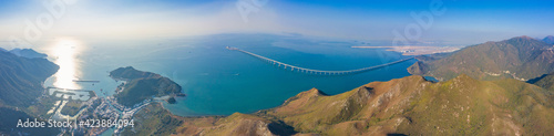 Foto Aerial Panorama view of Tai O, the famous travel destination in Hong Kong