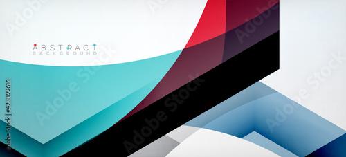 Fotografía Vector color hexagons geometric abstract background