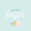 Happy easter. Vector lettering illustration. Happy Easter text as an Easter logo, icon. Drawn Sunday greeting card, greeting card, invitation, poster, banner lettering typography template