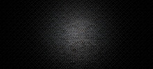 Empty Dark Abstract Asphalt Diamond Plate Texture Background Wall And Studio Room Interior Texture For Display Products Wall Background.illustration