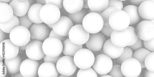 Fototapety, obrazy: White balls decorative abstract background