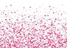 Purple Explosion Star Wallpaper. Rose Celebration Backdrop. Heart Like Texture. Pink Confetti Group. Pretty Frame.