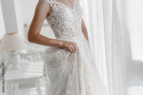 Foto bride in wedding dress