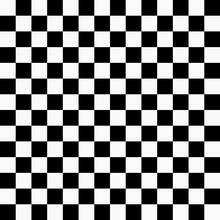 Chess Board 14x14. Vector Monochrome Checkered Pattern. Chessboard Race Pattern. Checker Squares Black And White Color.