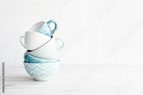 Turquoise ceramic Fototapet