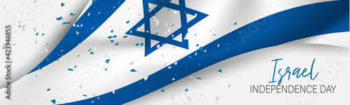Obraz na płótnie Israel Independence Day banner or site header