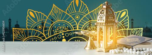 Obraz Beautiful greeting card for Ramadan celebration - fototapety do salonu