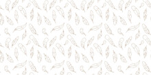 Feather Seamless Repeat Pattern Vector Background