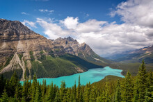 Peyto Lake On Icefields Parkway In Banff National Park, Alberta, Rocky Mountains, Canada