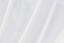 White Fabric Texture, Creases On White Fabric, White Abstract Background