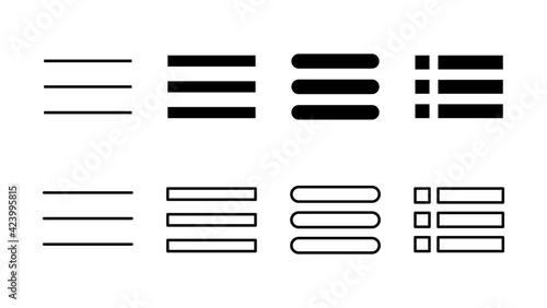 Obraz na plátne Menu Icon set. web menu icon. hamburger menu symbol