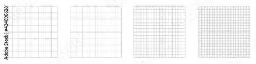 Grid pattern background collection. Grid templates isolated on white background. Set of grid pattern background. Graph paper. Square background. Square grid lines black background.
