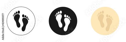 Billede på lærred Set of web icons for feet flat design.