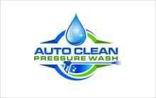 Illustration Vector Graphic Of Pressure Power Wash Spray Logo Design Template