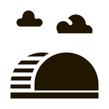 Semicircular Hill Ladder Rainbow Glyph Icon Vector. Semicircular Hill Ladder Rainbow Sign. Isolated Symbol Illustration