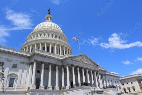 Obraz US National Capitol in Washington D.C. - fototapety do salonu