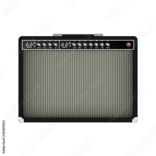 Obraz na plátně Realistic classic guitar amplifier, vector illustration