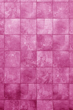 Pink Building Wall. Interior Of A Modern Loft. Background For Design