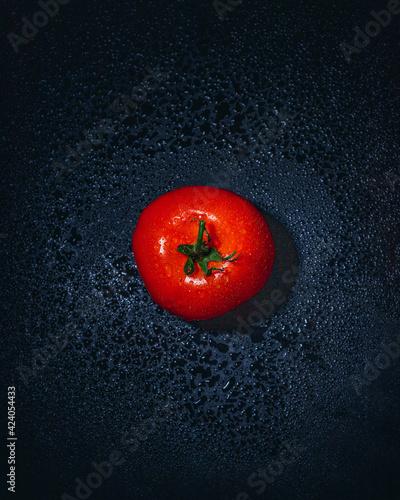 Fototapeta czerwony pomidor fotografia jedzenia 3 obraz