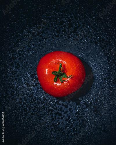 Fototapeta czerwony pomidor fotografia jedzenia 2 obraz
