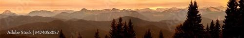 Fotografia, Obraz Panorama view Brauneck mountain in Bavaria, Germany