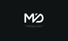 MD M AND D Abstract Initial Monogram Letter Alphabet Logo Design