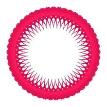 Pink Circular Pattern. Striped Decor. 3d Rendering Illustration.